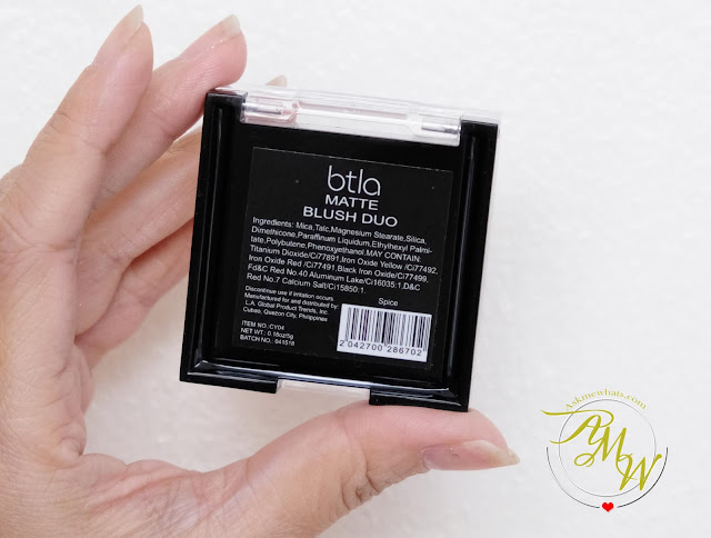 a photo of BTLA Matte Blush Duo Review by Nikki Tiu of www.askmewhats.com