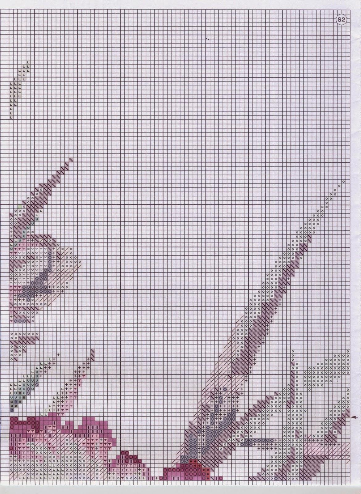 схема вышивки подушки ирисы riolis