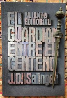 Portada del libro El guardián entre el centeno, de J. D. Salinger
