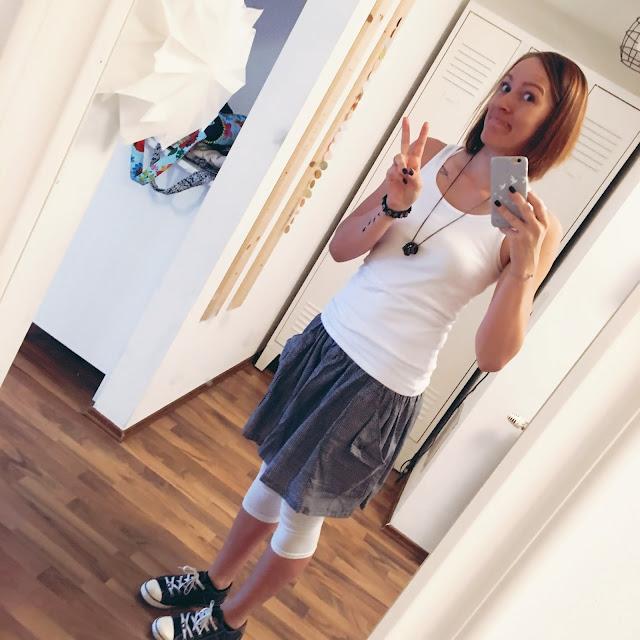 GrinseStern, Rock, me, selfie, genäht, stoffladen, streichelstoff, stoffliebe, shushu schnitt