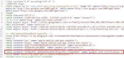 Verifikasi Tag HTML Di Blogger
