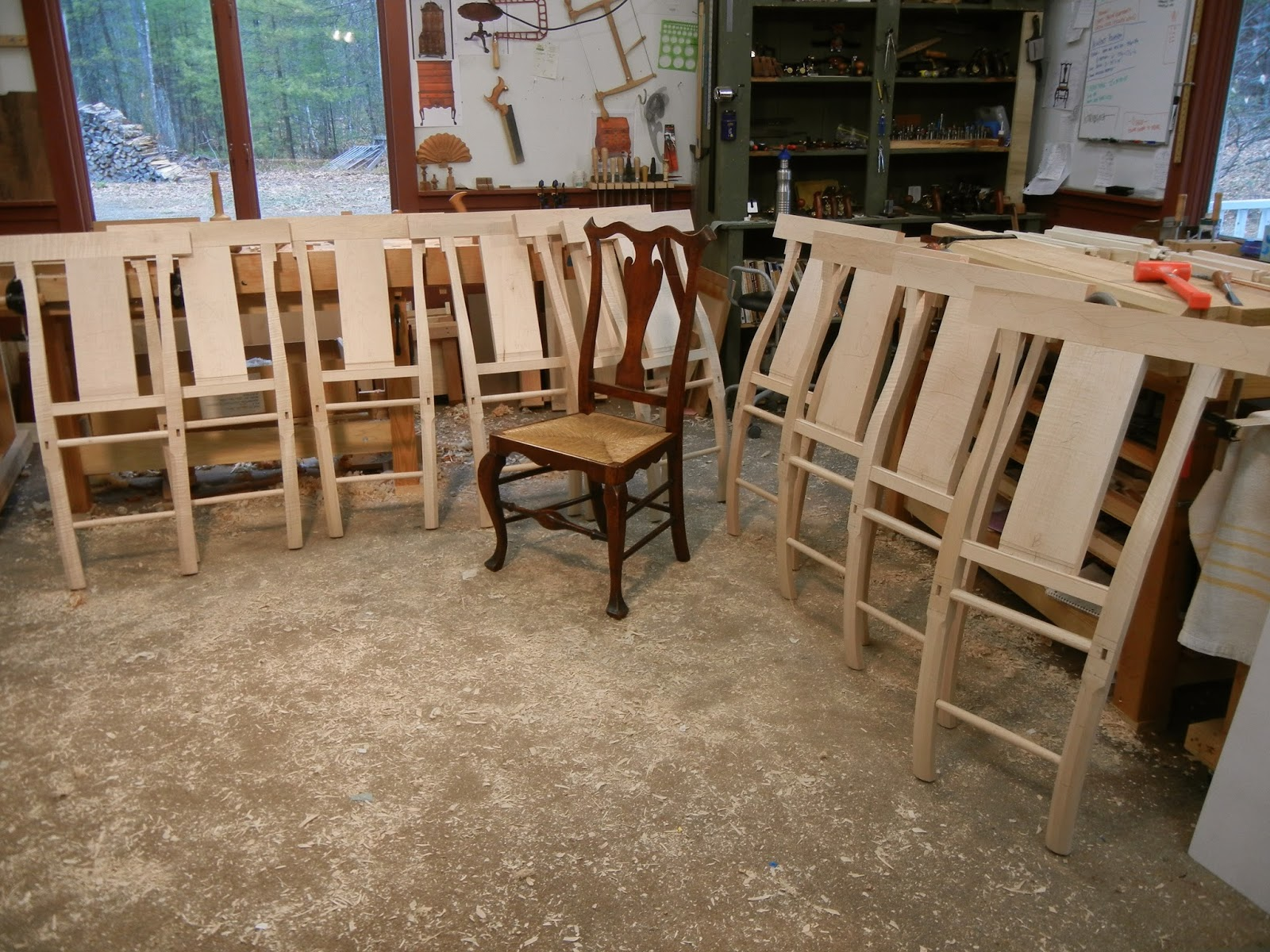 Handmade Reproduction Chair process