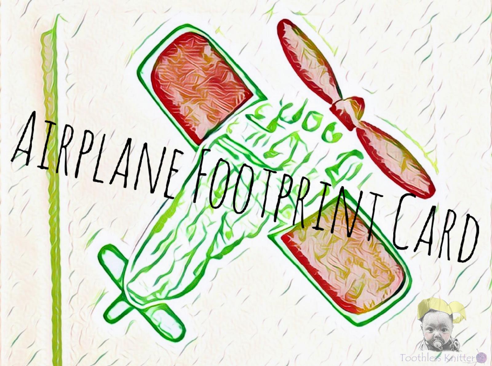 Airplane Footprint Card / Kartka z Odciskiem Stópki - Samolot
