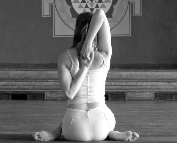 Gomukhasana pose for firming breasts