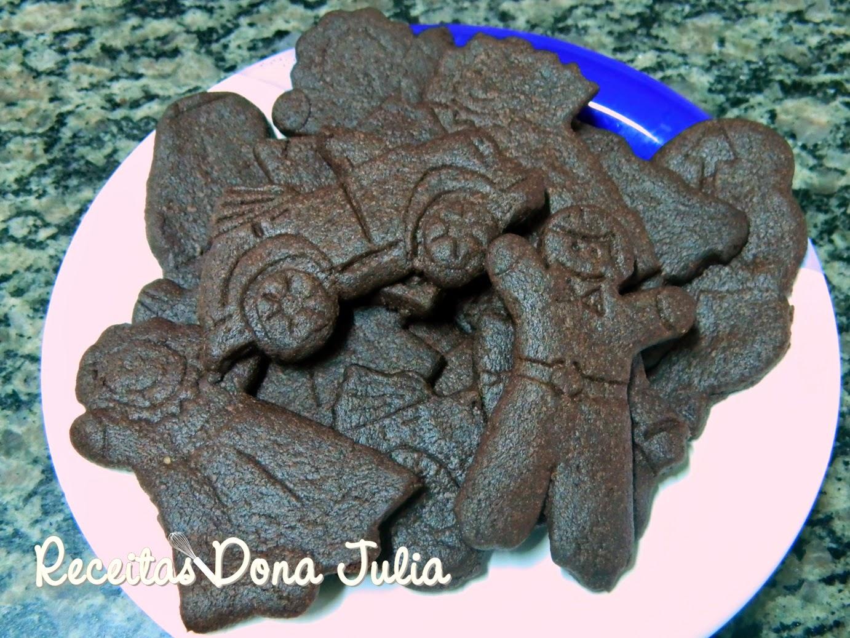 """Biscoitos Amanteigados de Chocolate"""