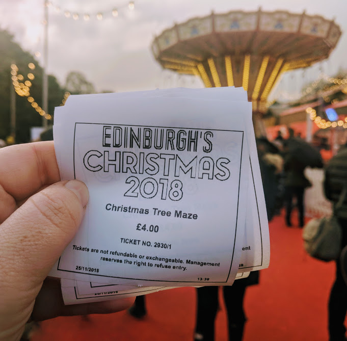 Top Tips for Driving to Edinburgh Christmas Markets with Kids - Ride tickets