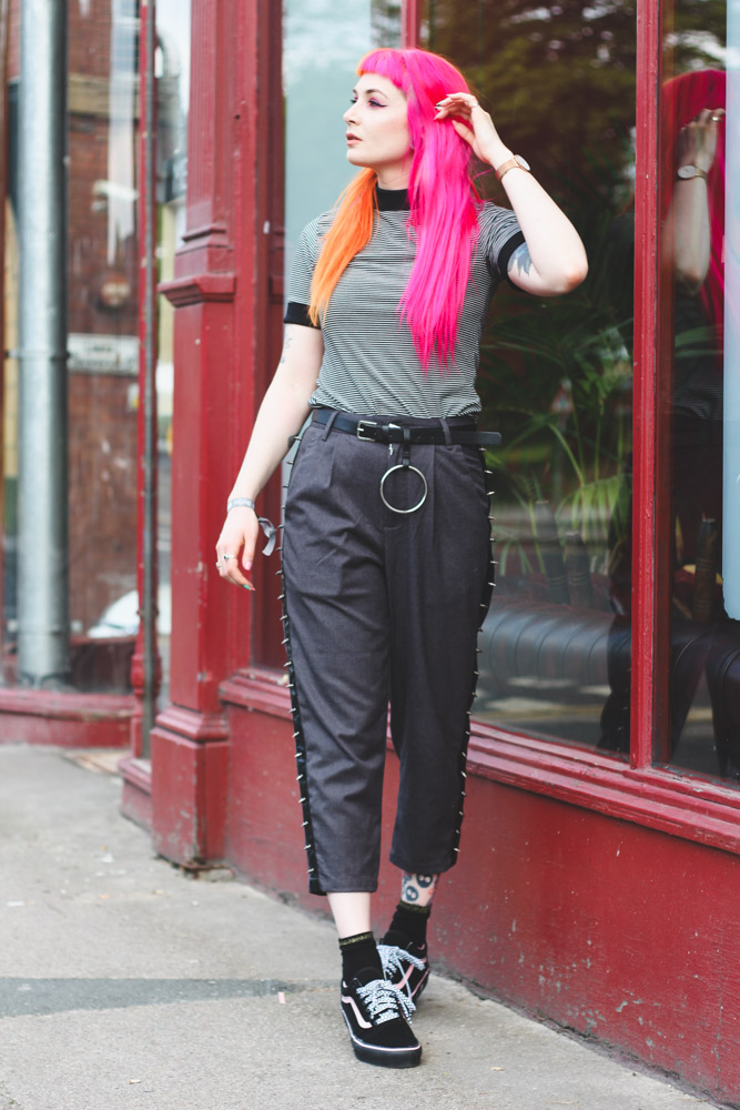 Alternative Fashion Blogger Foxxtailz Styles Disturbia Outfit