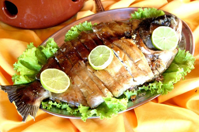 Peixe assado (Imagem: Reprodução/Gshow - Globo)