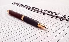 foto di penna con quaderno