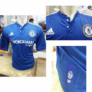 Detail jersey Chelsea home yokohama terbaru musim 2015/2016