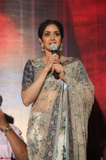 Sri Devi in designer saree stunning beauty at the launch of MOM movie Trailer~  Exclusive 004.JPG
