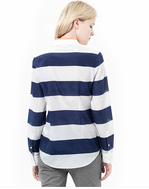 Bold Stripe Voile Shirt