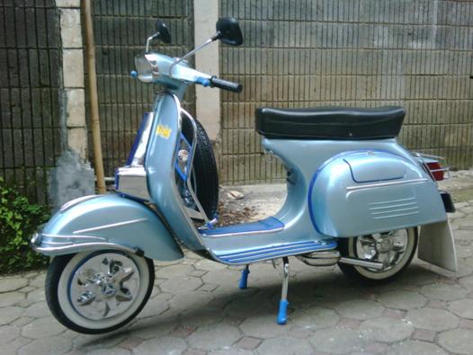 Contoh Gambar Modifikasi Moto Vespa Antik Blog Otomotif Terkini