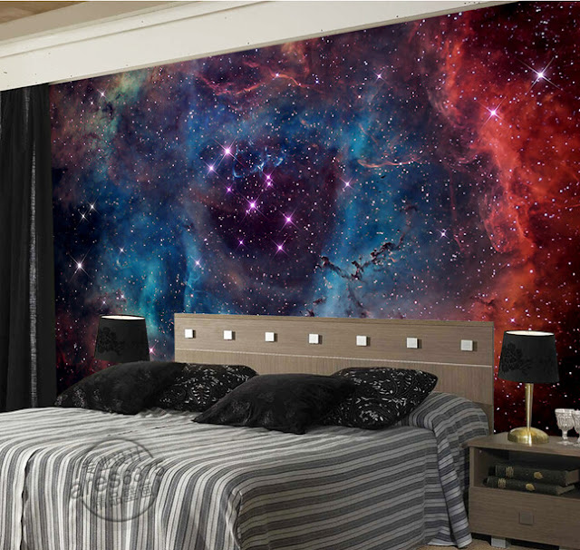 Space Wall Mural Planets Photo Wallpaper 3D Bedroom