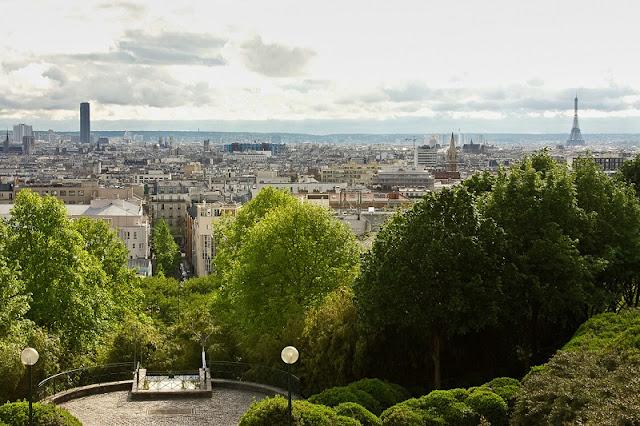 Vista do mirante do Parc Belleville em Paris