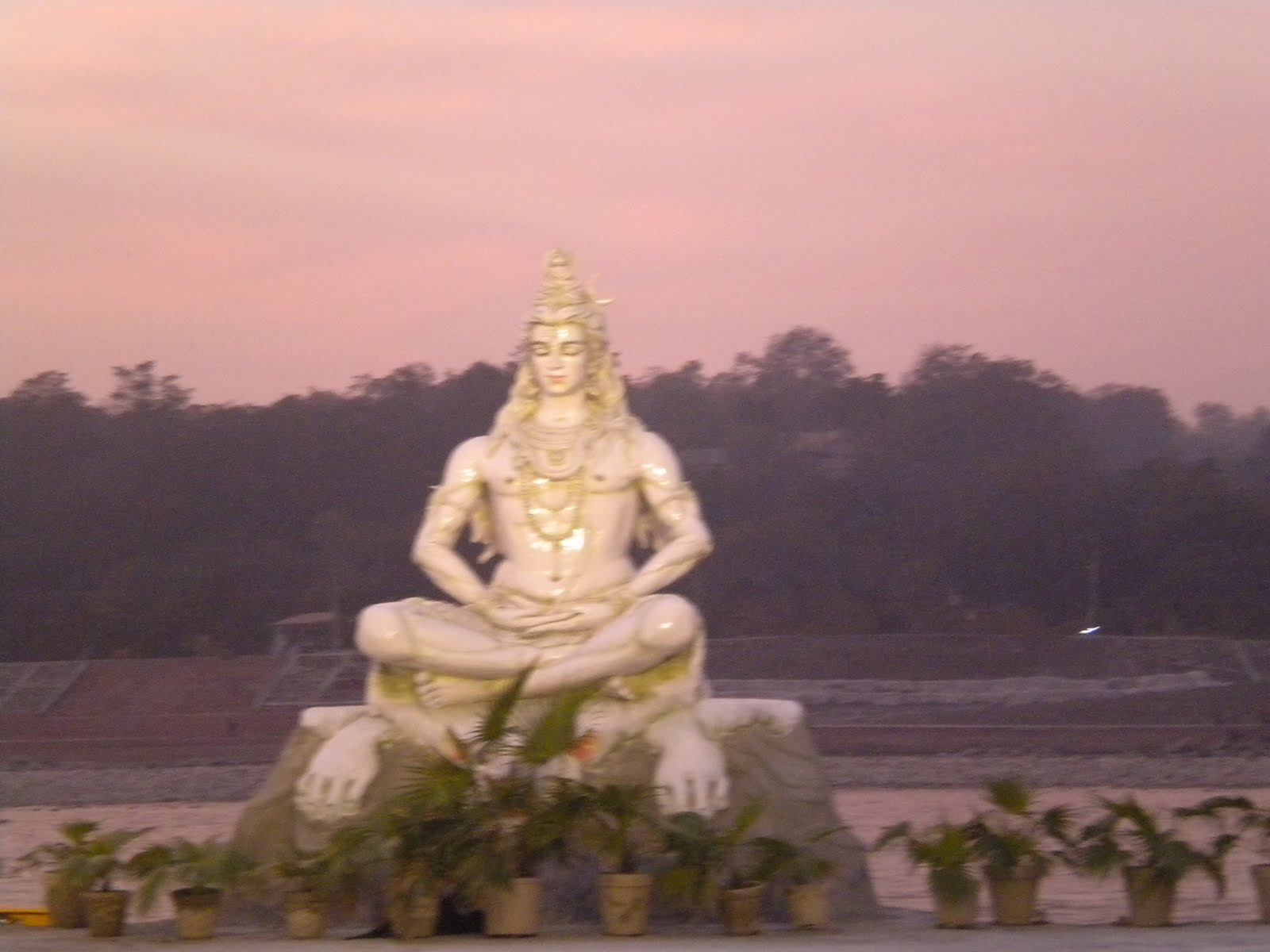 Yoga And Mantra Therapy The White Marble Statue Of Lord