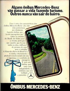 propaganda ônibus Mercedes-Benz - 1973, Mercedes-Benz do Brasil anos 70, Mercedes-benz década de 70, ônibus mercedes, Oswaldo Hernandez,