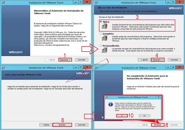 VMware vSphere 6.5.0: Proceso de Instalación VMware Tools.