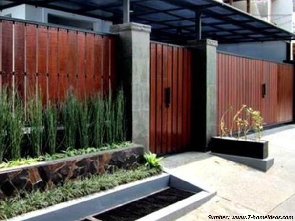 Pagar Rumah Minimalis Dengan Warna Terang 100 Rumah Minimalis