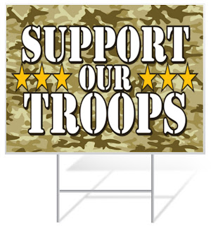 Support Our Troops Lawn Sign | Lawnsigns.com