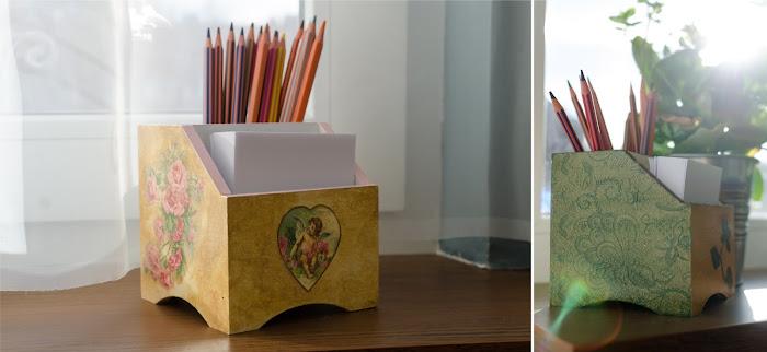 pudełko decoupage- prezent DIY