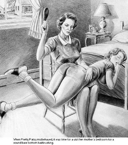Bare bottom spanking drawing agree