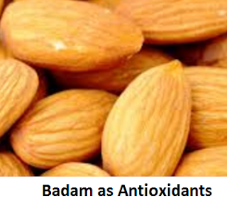 Health Benefits of Almond or Badam as Antioxidants