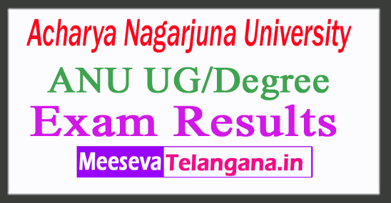 Acharya Nagarjuna University UG/Degree Exam Results