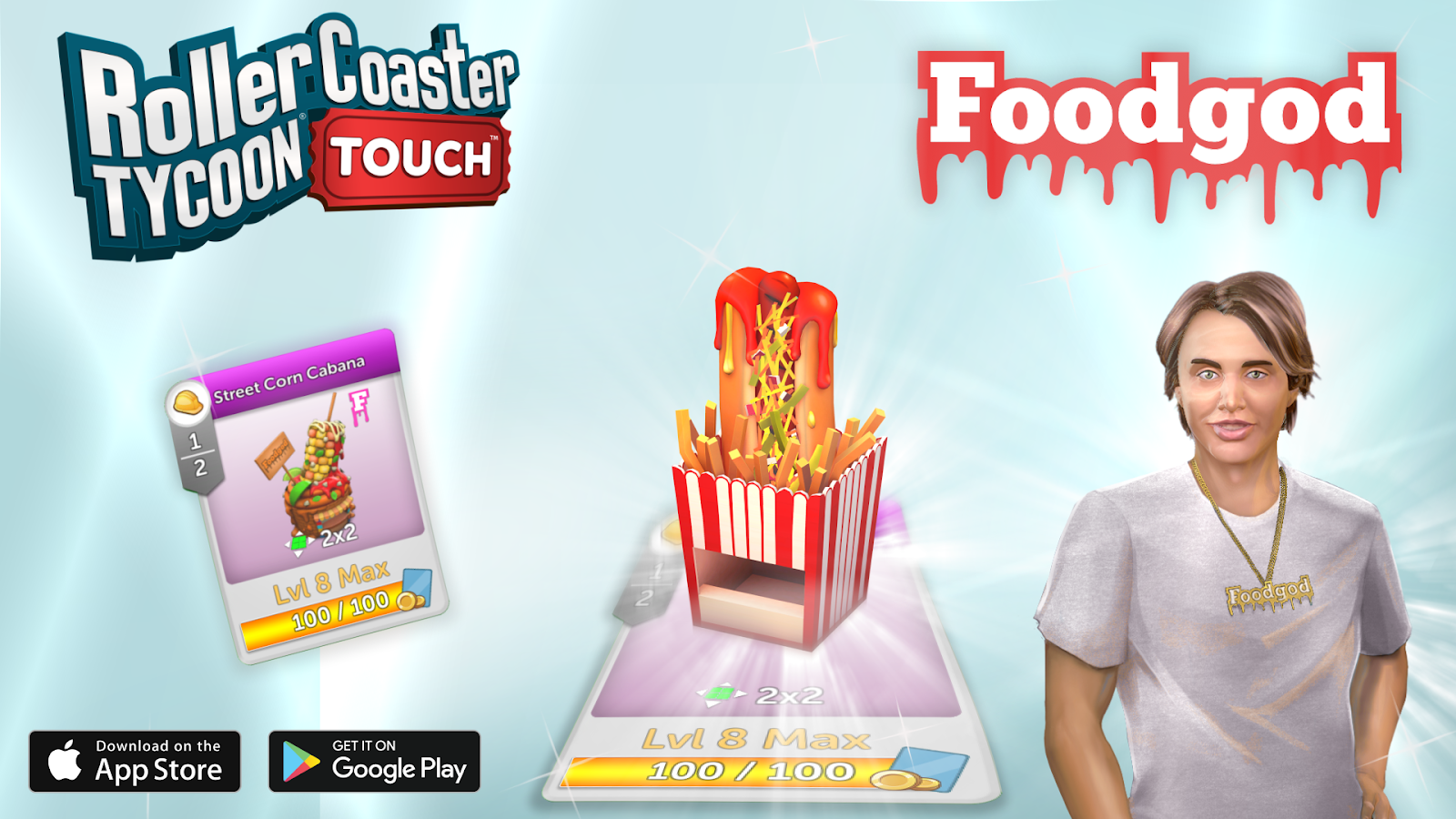 Foodgod (Jonathan Cheban) and Atari® Partner for Tasty Update to the Best-Selling Theme Park Sim RollerCoaster Tycoon® Touch™