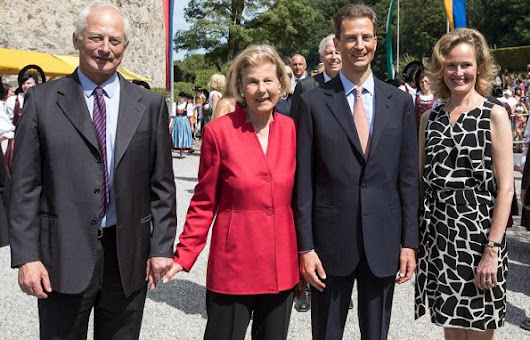 Princely Family of Liechtenstein attend National Day celebrations