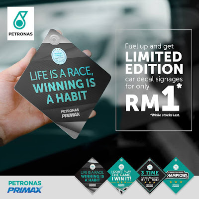PETRONAS Primax Fuels F1 World Championship Car Decal Signages
