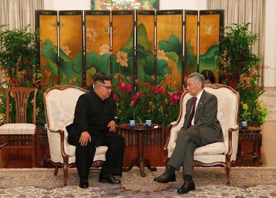 Kim Jong Un Bertemu Dengan PM Singapura Lee Hsien Loong
