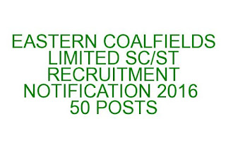 ECL SC/ST Recruitment Notification 2016 50 posts