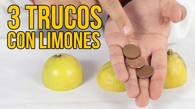 trucos, experimentos, limones