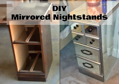 Fix lovely diy mirrored nightstands for How to make a mirrored nightstand diy