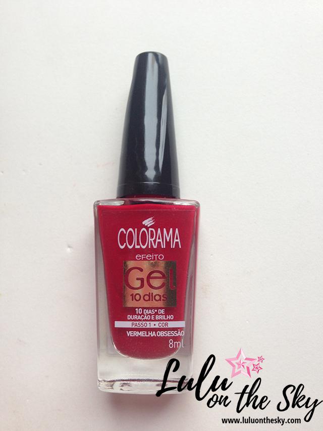 Esmalte Colorama Vermelha Obsessão Efeito Gel