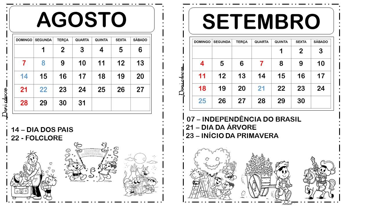 Dani Educar : Calendário 2016 com datas comemorativas