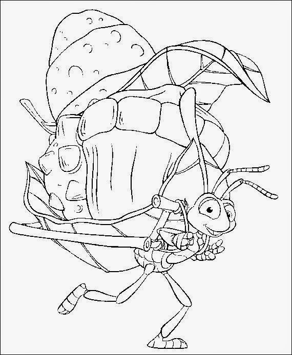 bugs life coloring pages