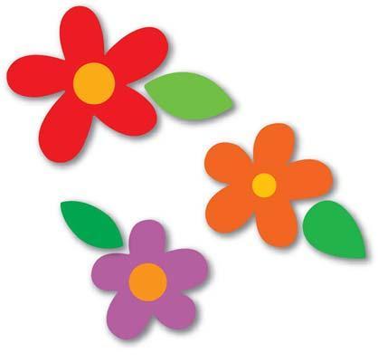 Moldes de flores em eva para painel