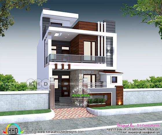 23'x 55' house plan with 3 bedrooms