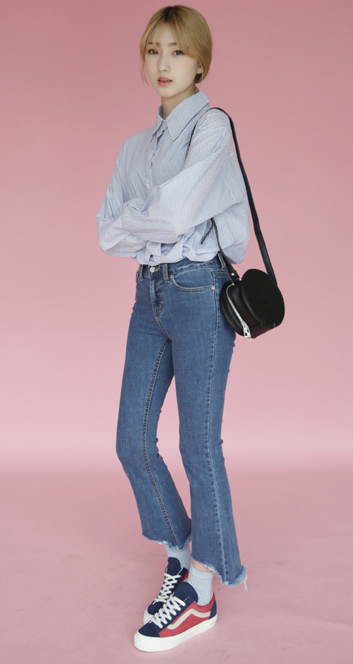 Cropped and Raw Edged Jeans