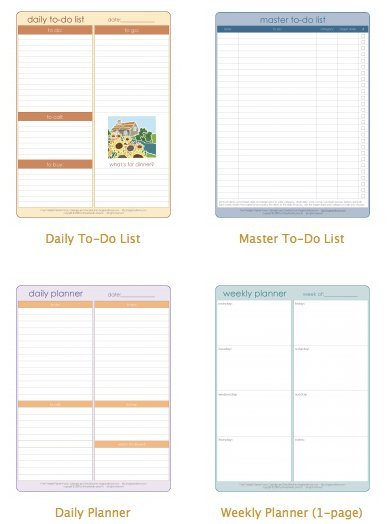 Staying on top of things Printable lists for an organized day