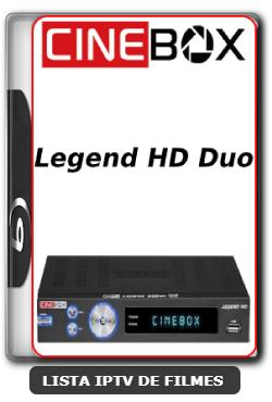 Cinebox Legend HD Duo Nova Atualização Satélite SKS Keys 61w ON - 29/03/2020
