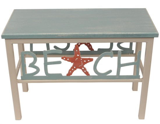 Beach Bench for Entryway