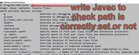 write javac to check it is correct or not