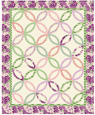 double wedding ring quilt 54 x 70 free pattern by kathy hall for andover fabrics pdf download - Double Wedding Ring Quilt Pattern