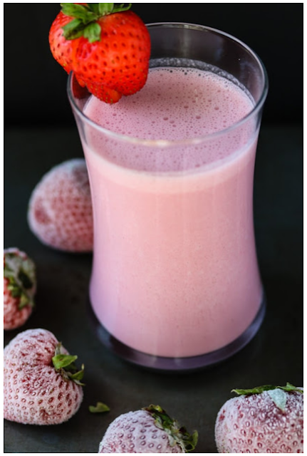 Easy Strawberry Cashew Milk {Dairy-Free}