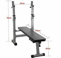 Planos para máquinas de gimnasio - banco plano para pecho