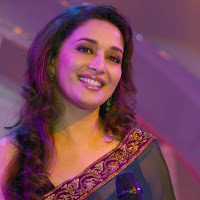 Smiling madhuri dancing an event