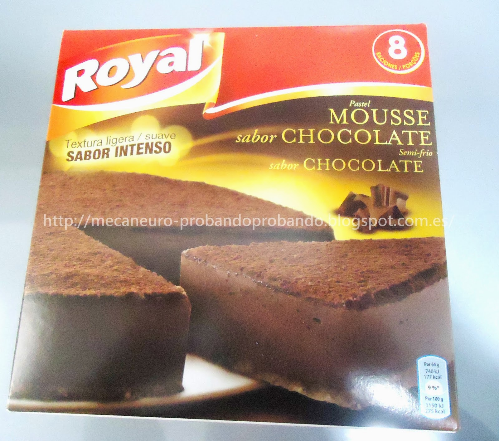 Pastel mousse de chocolate Royal